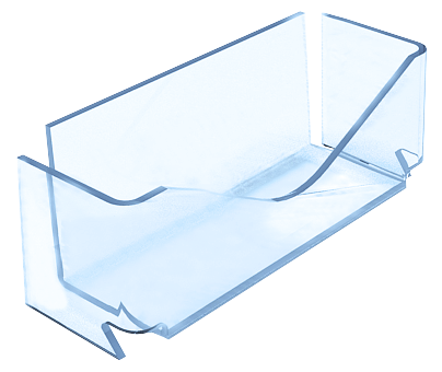 прозрачная настенная визитница из оргстекла