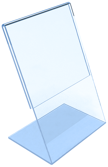 L-образная настольная стойка из оргстекла